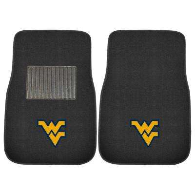 NCAA West Virginia University 2-Piece 17 in. x 25.5 in. Carpet Embroidered Car Mat