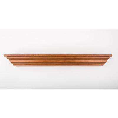 48 in. L x 5 in. D Floating Honey Crown Molding Decorative Ledge Shelf