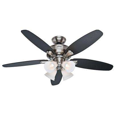 Landry 52 in. Brushed Nickel Ceiling Fan with Light Kit