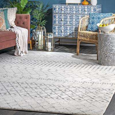 Blythe Moroccan Transitional Gray 8 ft. x 10 ft. Area Rug