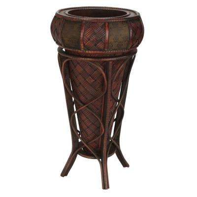 22 in. H Burgundy Decorative Stand Planter