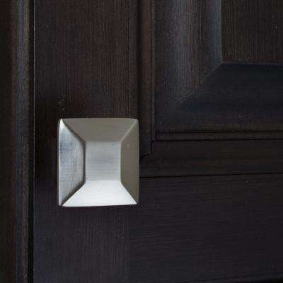 1-3/8 in. Satin Nickel Square Cabinet Knob (10-Pack)
