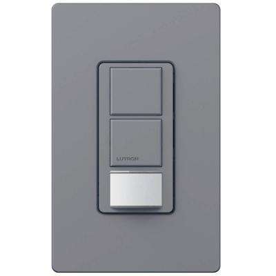 Maestro 6-Amp Single Pole Dual Circuit Occupancy Sensing Switch - Gray