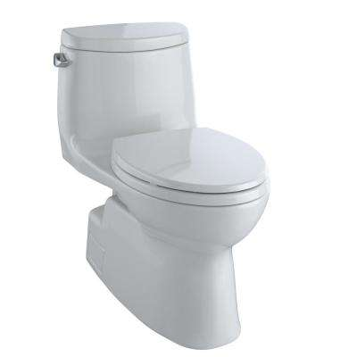 Carlyle II 1-Piece 1.28 GPF Single Flush Elongated Skirted Toilet with CeFiONtect in Colonial White