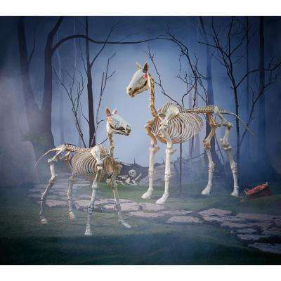 6 ft Halloween Standing Skeleton Horse