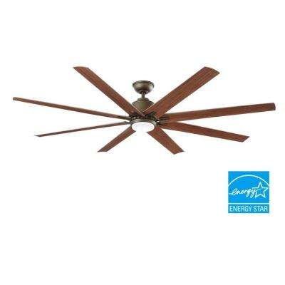 Kensgrove 72 in. LED Indoor/Outdoor Espresso Bronze Ceiling Fan