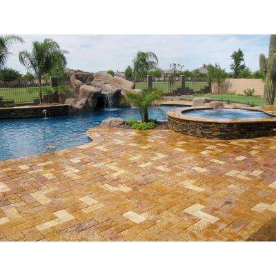 Ankara Gold Ledger Panel 6 in. x 24 in. Natural Slate Wall Tile (1 sq. ft.)