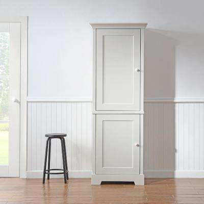 Ox Hill Pantry/Utility Assembled 27 x 78 x 20 in. Pantry/Utility Cabinet with Wooden Doors in Picket Fence