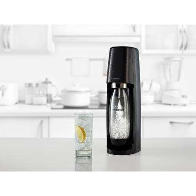 Fizzi Black Sparkling Water Maker with Raspberry Drops and Lemon Fruit Drops