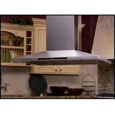 Contemporary Series 36 in. Island Range Hood in Stainless Steel