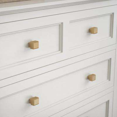 Tapered Edge 1 in. (25mm) Champagne Bronze Cabinet Knob