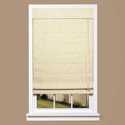 Linen-Look Thermal Blackout Fabric Roman Shade
