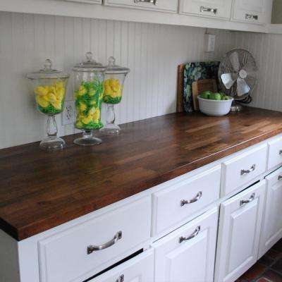 5 ft. L x 3 ft. D x 1.5 in. T Butcher Block Countertop in Finished Walnut