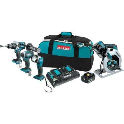 18-Volt X2 LXT Lithium-Ion Cordless Combo Kit (4-Tool)