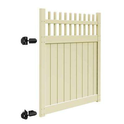 Tennessee 5 ft. W x 6 ft. H Sand Vinyl Un-Assembled Fence Gate
