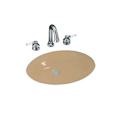Caxton Vitreous China Undermount Bathroom Sink in Mexican Sand with Overflow Drain