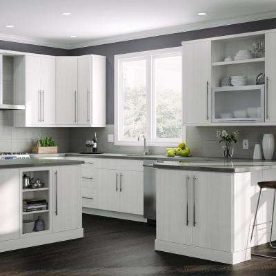Edgeley Assembled 15x30x12 in. Wall Kitchen Cabinet in Glacier