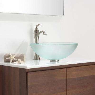 Ventus Single Hole Single-Handle High-Arc Vessel Bathroom Faucet in Brushed Nickel