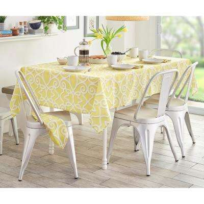 60 in. W x 102 in. L Oblong Chase Geometric Stain Resistant Indoor Outdoor Tablecloth