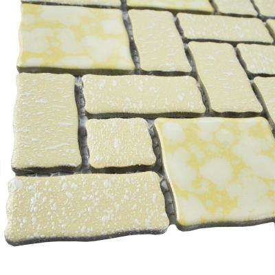 Academy Gold 11-3/4 in. x 11-3/4 in. x 5 mm Porcelain Mosaic Tile