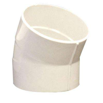 4 in. PVC DWV 22.5-Degree Hub x Hub Sewer Drain Street Elbow