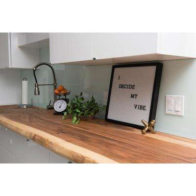 4 ft. L x 2 ft. 1 in. D x 1.5 in. T Butcher Block Countertop in Oiled Acacia
