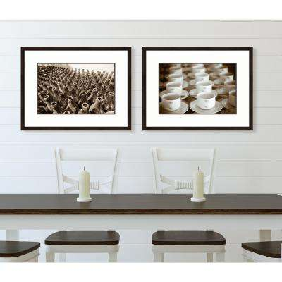 "31 in. x 22 in. ""Cups"" Framed Giclee Print Wall Art"