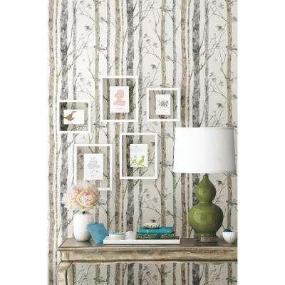 28.18 sq. ft. Birch Trees Peel and Stick Wallpaper