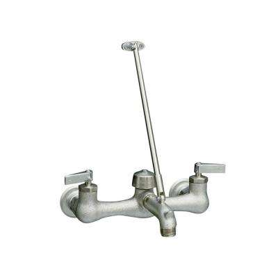 Kinlock Wall-Mount 2-Handle Kitchen Faucet in Polished Chrome