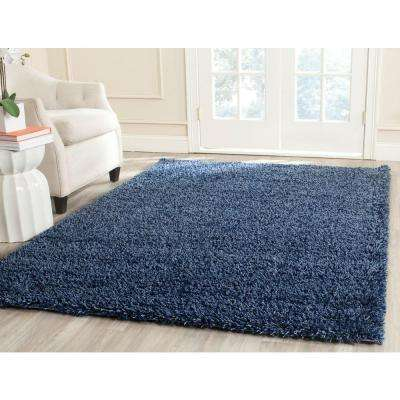 California Shag Navy 6 ft. 7 in. x 9 ft. 6 in. Area Rug