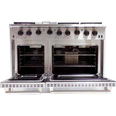 48 in. 6.7 cu. ft. Gas Range in Stainless Steel