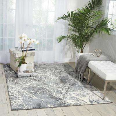 Maxell Grey 9 ft. x 13 ft. Area Rug