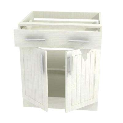 30x34.5x24 in. Naples Open Back Outdoor Base Cabinet with 2 Full Height Doors in Radiant White