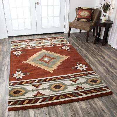 Southwest Rust 8 ft. x 10 ft. Area Rug