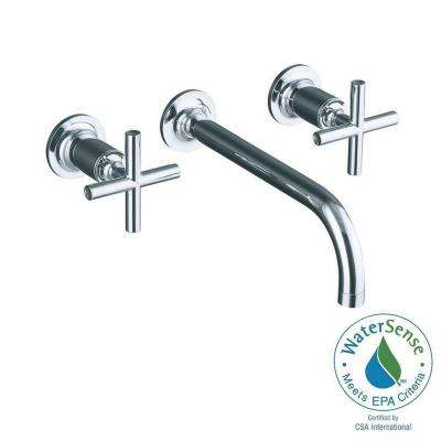 Purist Wall-Mount 2-Handle Low-Arc Faucet Trim wit