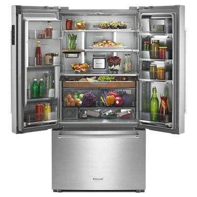 23.8 cu. ft. French Door Refrigerator in Stainless Steel, Counter Depth