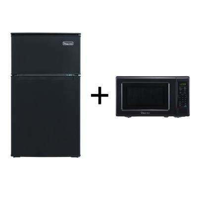 3.1 cu. ft. Mini Fridge in Black and 0.7 cu. ft. Microwave Combo