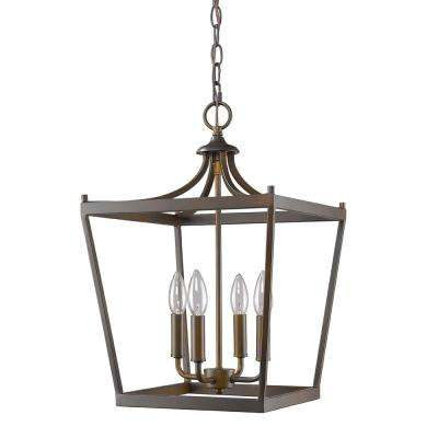 Kennedy 4-Light Indoor Oil Rubbed Bronze Chandelier
