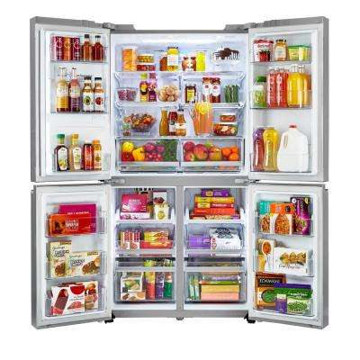 23.0 cu. ft. French Door Smart Refrigerator with WiFi Enabled in Stainless Steel, Counter Depth, ENERGY STAR