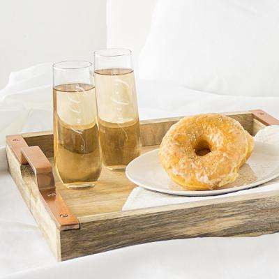 Hubby and Wifey Stemless Champagne Flutes (Set of 2)