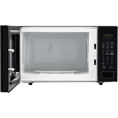 Carousel 1.4 cu. ft. Countertop Microwave in Black with Sensor Cooking Technology