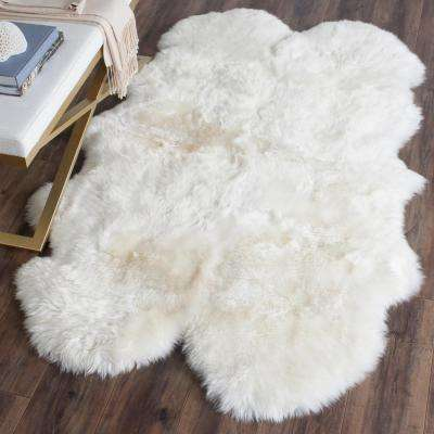 Sheep Skin White 4 ft. x 6 ft. Area Rug