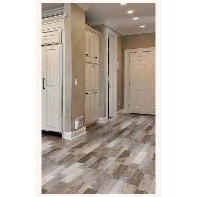 Painted Wood Beige 6 in. x 24 in. Porcelain Floor and Wall Tile (14 sq. ft. / case)
