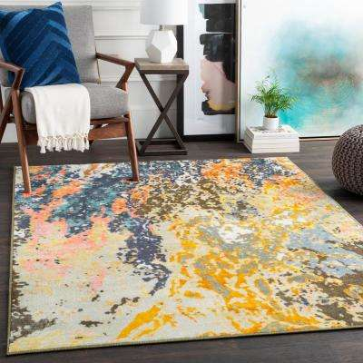 Kasimir Multi-color 2 ft. 7 in. x 7 ft. 3 in. Abstract Runner Rug