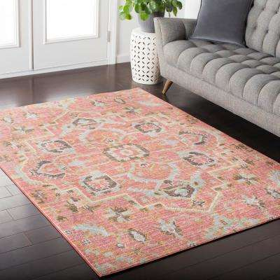 Karolina Pale Pink 8 ft. x 10 ft. Indoor Area Rug