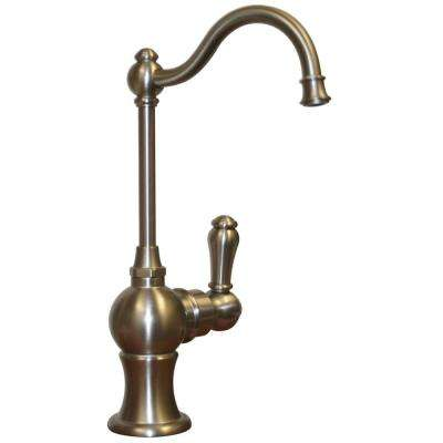 Forever Hot Single-Handle Point of Use Drinking Fountain Faucet with Traditional Spout in Brushed Nickel