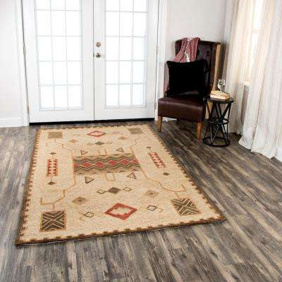 Mesa Gold Multicolor 8 ft. x 11 ft. Rectangle Area Rug