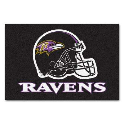 Baltimore Ravens 19 in. x 30 in. Accent Rug