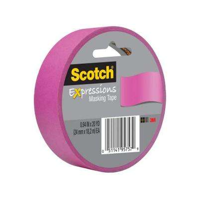 Scotch 0.94 in. x 20 yds. Fuchsia Expressions Masking Tape (Case of 36)