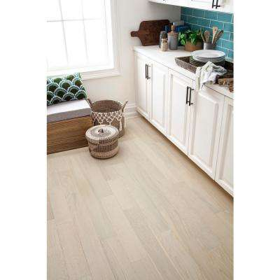 Take Home Sample - Ivory Lace Engineered Waterproof Hardwood Flooring - 5 in. Width x 6 in. Length